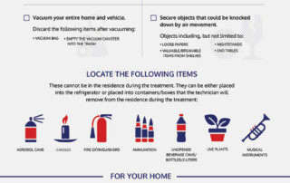 Guide to Preparing Your Home For Heat Treatment infographic.