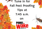 Tune in for Fall Pest Proofing Tips at 7:45 a.m. on Fox 6 Wake Up.
