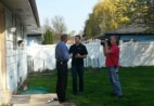 Wil-Kil employee being interviewed by two male newscasters.